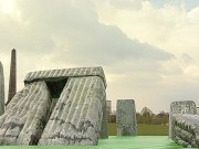 Jeremy Deller's inflatable Stonehenge gives Glasgow a bounce in its step