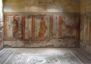 Roman fresco from Zeugma. Image source: Wikimedia Commons.