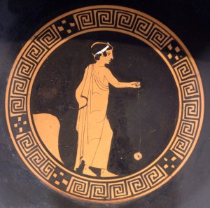 """""""We know that the Ancient Greeks made use of the yoyo."""" Image source: Wikimedia Commons."""