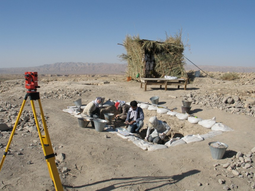 This is a photo of the excavations in area A at Chogha Golan, Iran. Image courtesy of TISARP/University of Tübingen