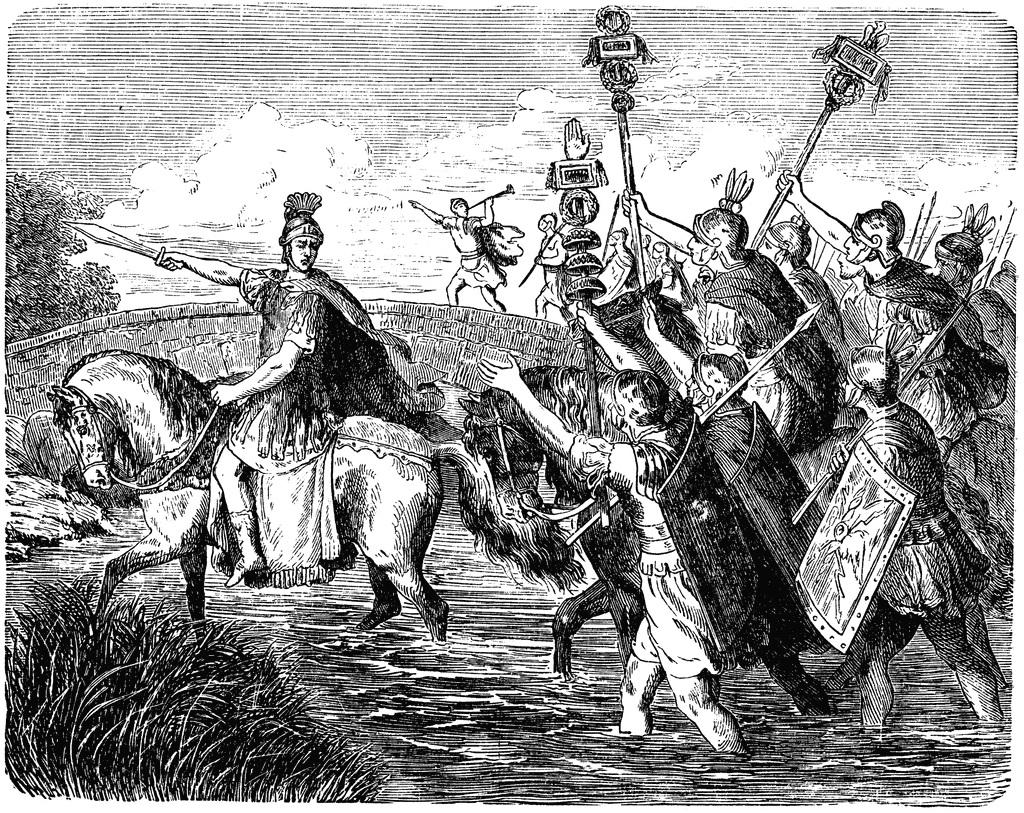 Caesar Crosing the Rubicon. Image Source: Wikimedia Commons