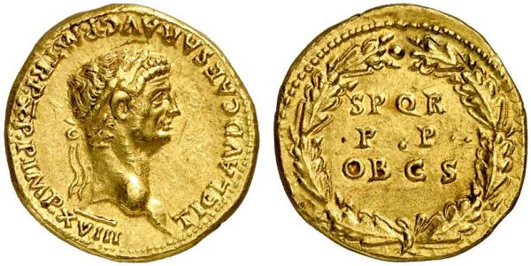 A Roman coin bearing the emperor Claudius's head that was found in India – where it may have been traded as bullion. Image Source: Wikimedia Commons.