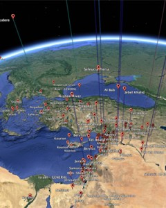 The University of Cincinnati's Kristina Neumann uses Google Earth in her research on ancient Antioch. Credit: UoC