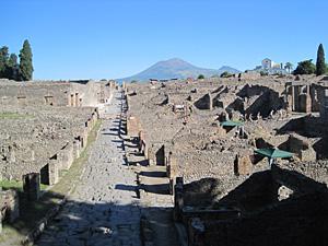 The neighborhood of Pompeii under excavation by the University of Cincinnati. Credit: UoC