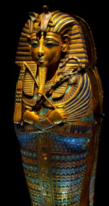 Tutankhamun's Coffin - one of the many treasures recovered in 1922. Image Source: Wikimedia Commons.