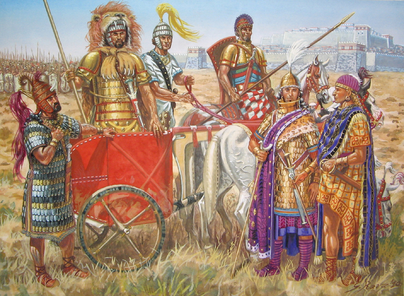 Bronze Age Greek warriors. Image Source: Private Collection