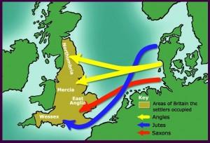 Saxons and Vikings map