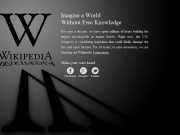 Wikipedia begins blackout in protest against US anti-piracy laws