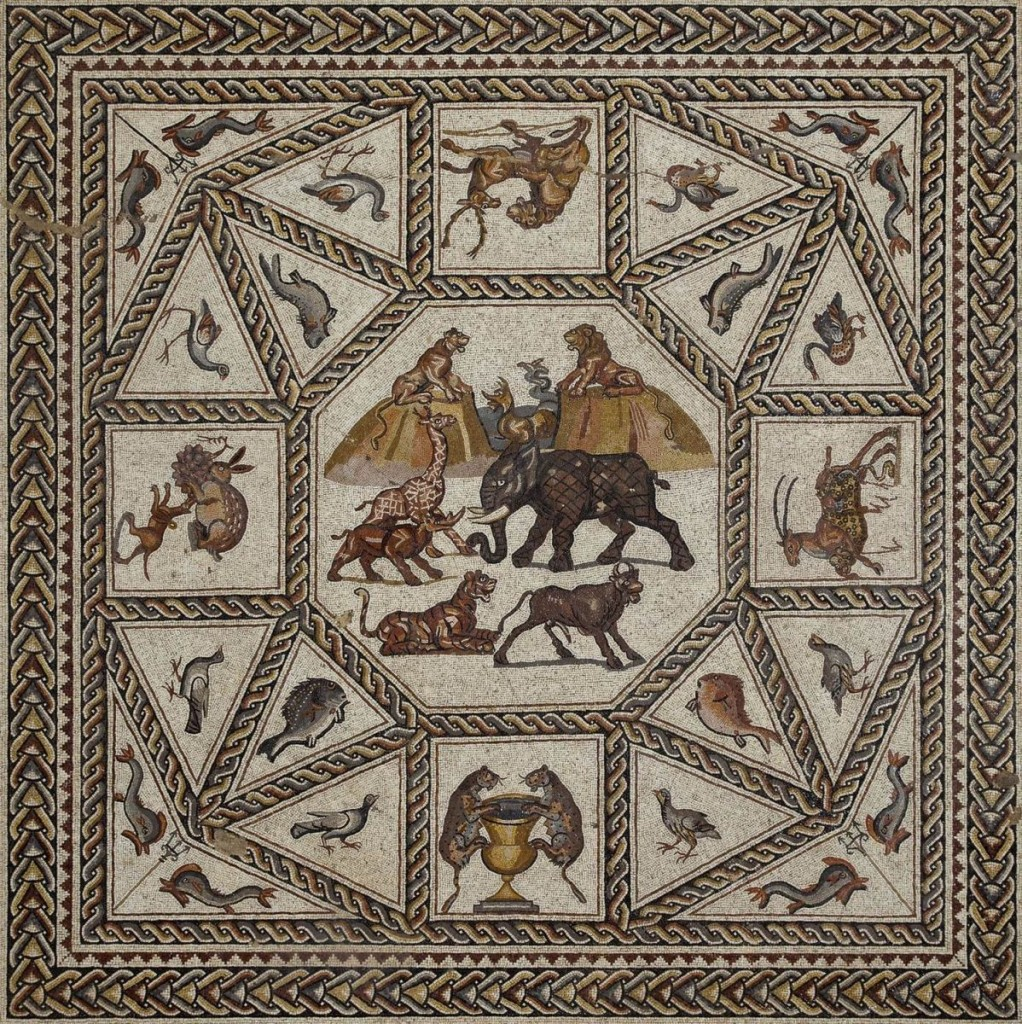 The Roman mosaic from Lod, Israel was discovered in 1996 during highway construction in Lod (formerly Lydda). Image courtesy of Penn Museum