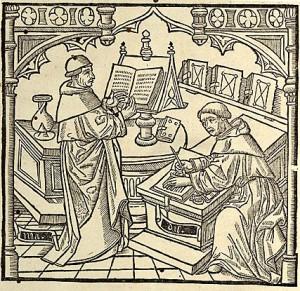 Monks writing