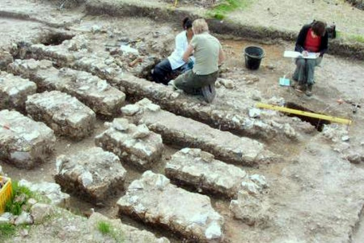 The archaeological dig at the theatre site in Faversham: Courtsey of Kent Archaeological Field School
