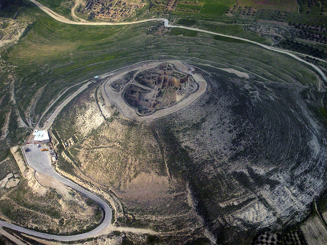 Herodium, site of Herod the Great's tomb, discovered in 2007. Image source: Wikimedia Commons.
