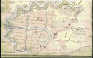 Picture 6 Map showing the plans for Gothenburg, made by Erik Dahlberg in 1675. Copyright the Military Archives of Sweden