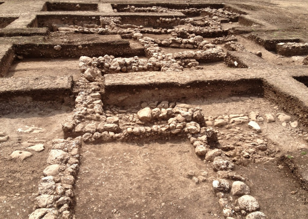 Ahihud Junction excavation. Image courtesy of Dr. Ya'akov Vardi, courtesy of the Israel Antiquities Authority.