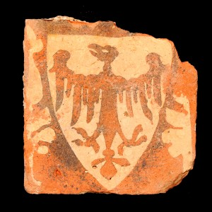 A floor tile recovered from the Greyfriars excavation hints at the interior of the Church. Image Courtesy of Leicester University.