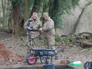 Soldiers help excavate Roman site in Wales