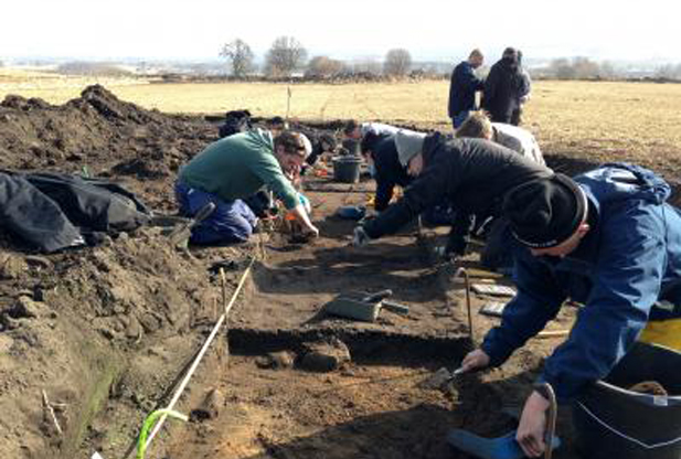 Researchers from the University of Gothenburg, Sweden, have spent many years studying the remains of a Stone Age community in Karleby outside the town of Falköping, Sweden. The researchers have for example tried to identify parts of the inhabitants' diet. Right now they are looking for evidence that fertilizers were used already during the Scandinavian Stone Age, and the results of their first analyses may be exactly what they are looking for. Credit: University of Gothenburg
