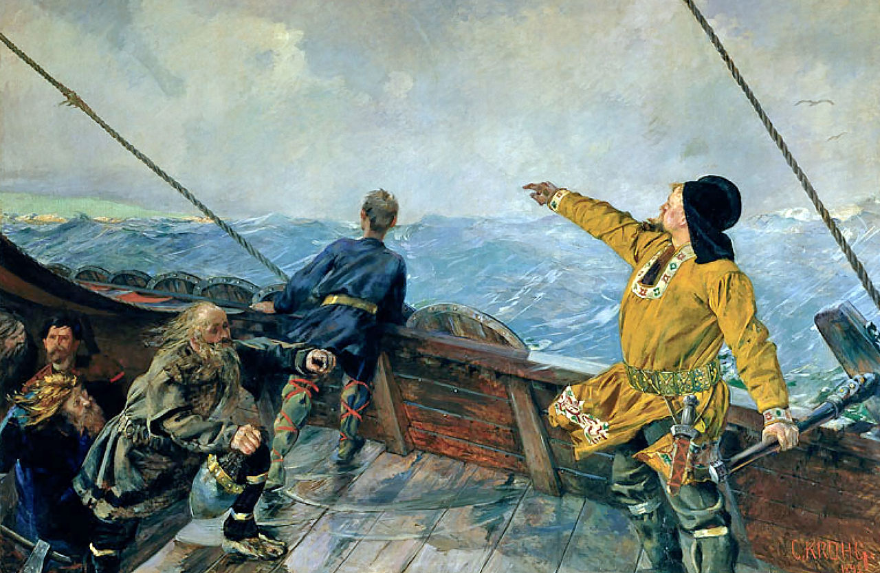 Leifr Eriksson was the first European to visit the Americas but it seems the Vikings may not have been first to the Faroes. Image Source, Wikimedia Commons.