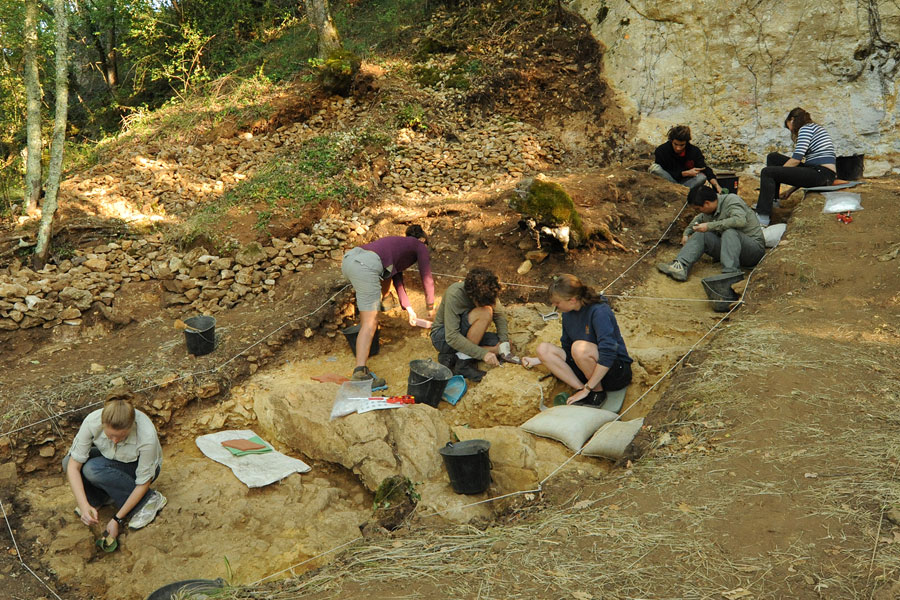 Three bone tools (lissoirs) were recently discovered at the Neandertal excavation site at Abri Peyrony, France. Image Courtesy of UC Davis