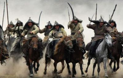These are Mongol horsemen. Intense warfare is the evolutionary driver of large complex societies, according to a new mathematical model whose findings accurately match those of the historical record in the ancient world. Image Courtesy of NIMBioS
