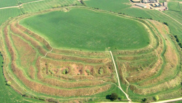 The iron age hill fort at Old Oswestry. Thousands have signed a petition against building houses next to the site. Image Source Wikimedia Commons